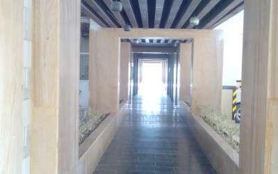 A block entrance