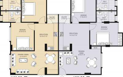 Typical 2BHK Floor Plan