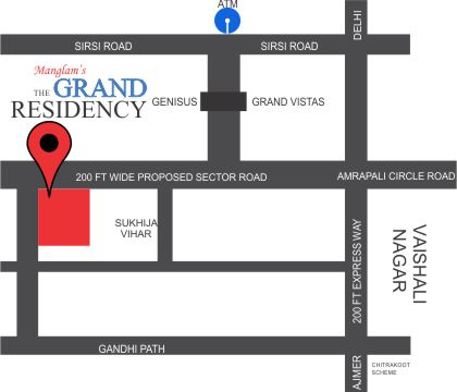 The Grand Residency Location Map